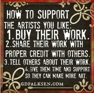 How to support the artists you like